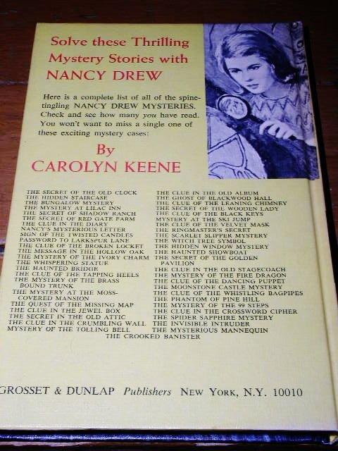 Nancy Drew,  The Clue of the Broken Locket book