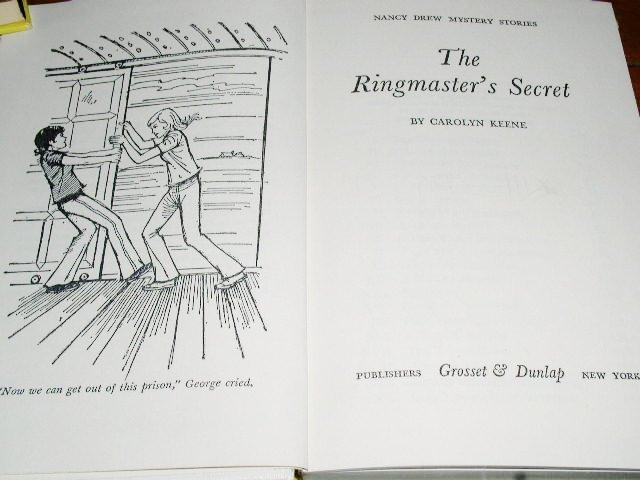 Nancy Drew,  The Ringmaster's Secret book