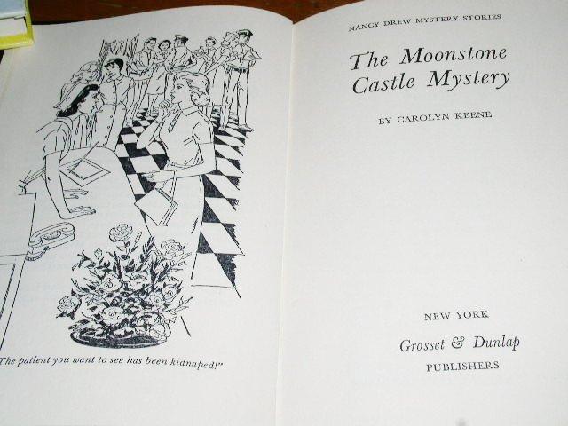 Nancy Drew,  The Moonstone Castle Mystery  book