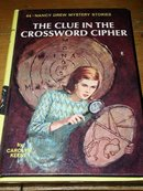 Nancy Drew,  The Clue in the Crossword Cipher  book