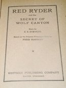 Red Ryder and the Secret of Wolf Canyon Book