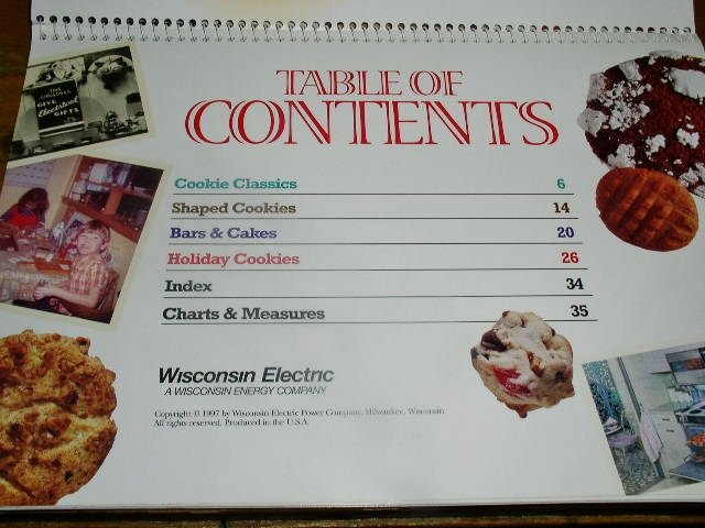 The Cookie Book,  Wisconsin Electric Co.  CK