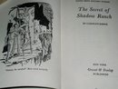 Nancy Drew,  Secret of Shadow Ranch Book
