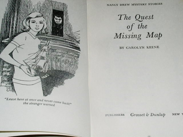 Nancy Drew,  Quest of the Missing Map  Book