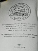 Constitution & Bylaws of the Grand International Brotherhood of Locomotive Engineers  Book