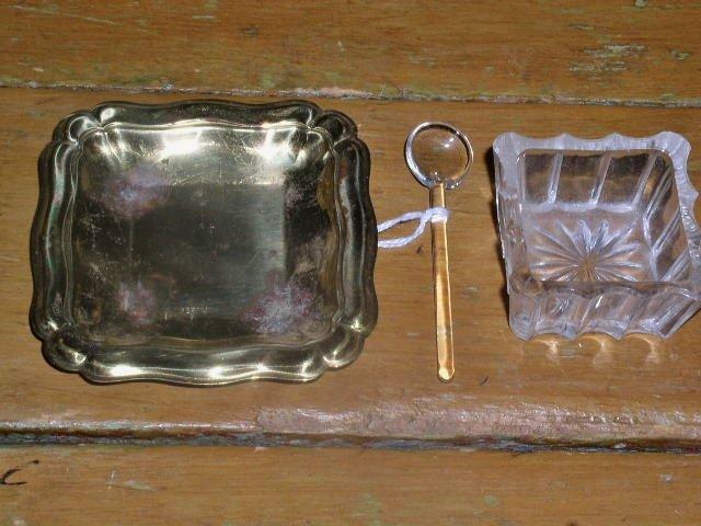 Salt Seller and Spoon Set