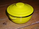 Enamelware Round Covered Container