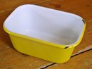 Enamelware Rectangular  Covered Container