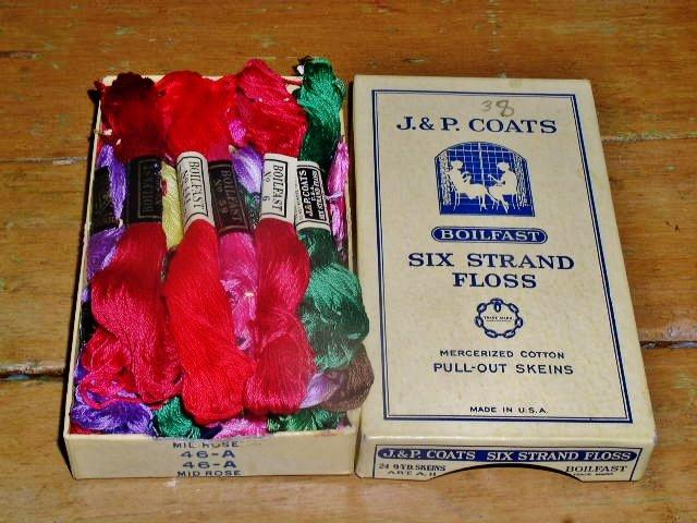 J & P Coats Box and Floss