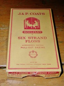 J & P Coats Box and Floss