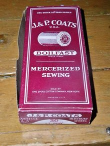 J & P Coats Thread Box