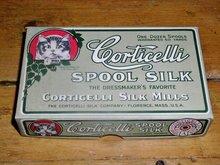 Corticelli Spool Silk Thread Box