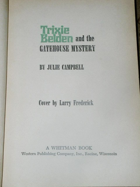 Trixie Belden, The Gatehouse Mystery  Book