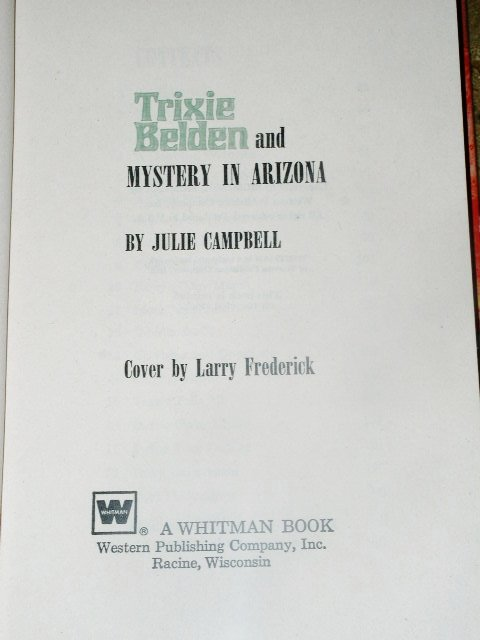Trixie Belden, The Mystery In Arizona  Book