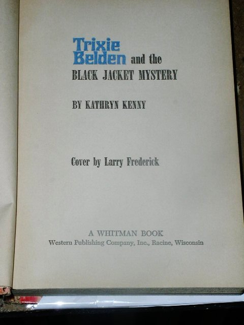 Trixie Belden, The Black Jacket Mystery  Book