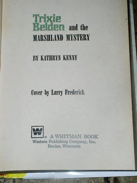Trixie Belden, The Marshland Mystery  Book