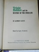 Trixie Belden, The Mystery of The Emeralds  Book