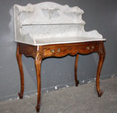 UNIQUE FRENCH LOUIS XV MARBLE WASH STAND CARVED M3717