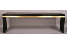 MID CENTURY MODERN CONSOLE TABLE BRONZE EBONIZED CARDIN