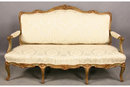 LARGE FRENCH LOUIS SETTEE COUCH SOFA CARVED PAINTED