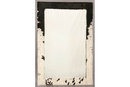 STYLISH LARGE MODERN MIRROR LONG HAIR COWHIDE J6460