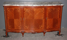 ITALIAN TABLE MARBLE TOP SIDEBOARD BOOK MATCHED J3348