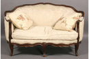 CARVED WALNUT FRENCH LOUIS XV SETTEE SOFA *CIRCA 1900*