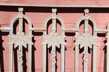 PAIR CAST IRON BALCONY PANELS GATES ART NOUVEAU STYLE