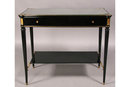 FRENCH LOUIS XVI TWO TIER OCCASIONAL TABLE EBONIZED