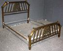 UNIQUE ART DECO BRONZE FULL SIZE BED J6643