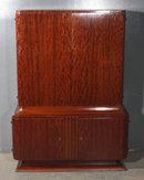 ART DECO BURLED WOOD BAR CHINA LIQUOR CABINET J5935