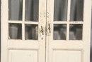 PAIR ANTIQUE FRENCH DOORS WITH ORIGINAL HARDWARE C.1910
