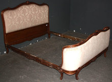 UPHOLSTERED FRENCH LOUIS XVI QUEEN BED J6441 CIRCA 1920