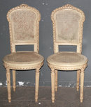 PAIR FRENCH LOUIS XVI PAINTED CANE CHAIRS J6253B