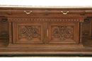 VICTORIAN MARBLE WALNUT SERVER SIDEBOARD **CIRCA 1880**
