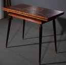 SUPERB INLAID FRENCH CARD GAMES TABLE FANTASTIC INLAY