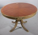 ROUND GILDED MAHOGANY FRENCH REGENCY BREAKFAST TABLE