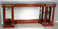 GREAT FRENCH EMPIRE ANTICO VERDE MARBLE CONSOLE TABLE