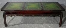 BEST CHINESE CHIPPENDALE MAHOGANY LEATHER COFFEE TABLE
