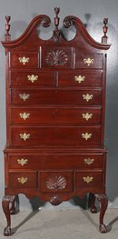 BEST SHELL CARVED PHILADELPHIA HIGHBOY HIGH CHEST