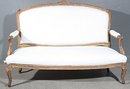 BEST FRENCH CARVED LOUIS XV GILDED SETTEE CANAPE SOFA