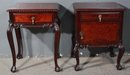 GREAT PAIR ENGLISH CHIPPENDALE MAHOGANY NIGHT STANDS
