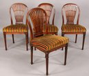 FINE SET 4 FOUR GUSTAVIAN FRENCH BALLOON BACK CHAIRS