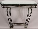 GREAT FRENCH WROUGHT IRON ART DECO CONSOLE TABLE