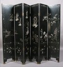 MYTHICAL CHINESE CHINOISERIE 6 PANEL DRESSING SCREEN