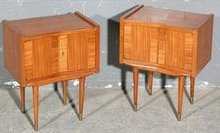 GREAT PAIR ITALIAN PONTI STYLE VINTAGE NIGHT STANDS