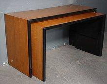 UNIQUE FRENCH ART DECO EBONIZED BIRCH CONSOLE TABLES