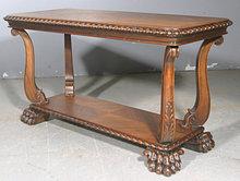 RARE SPANISH HACIENDA CARVED WALNUT COFFEE LAMP TABLE