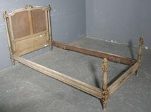 GREAT CARVED PAINTED FRENCH LOUIS XVI TWIN SINGLE BED