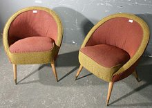 BEST PAIR ITALIAN MODERN MODERNE RETRO CLUB CHAIRS